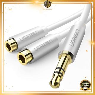 Cáp chia âm thanh Ugreen 10780 ra 2 cổng dài 20cm chuẩn Audio 3.5mm chính hãng - Hapugroup thumbnail