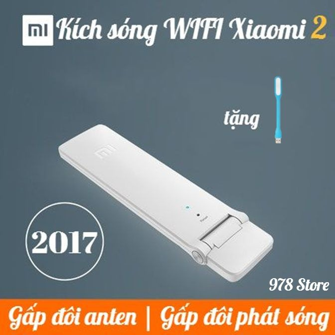 [CHÍNH HÃNG] Thiết bị kích sóng Xiaomi Wifi Repeater 2 Bộ thu phát wifi Xiaomi 2