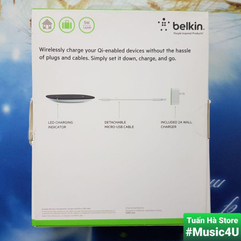 BOOST↑CHARGE™ Đế sạc nhanh không dây Belkin 7.5W cho Iphone, Airpods, F7U054, F7U027, F8M747, Chuẩn MFI [Music4U]