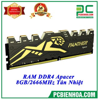 Ram DDR4 Apacer Panther 8GB bus 2666 tản nhiệt ( Bảo hành 36T) thumbnail