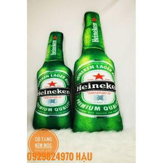 Bia nhồi bông 3d, bia ken nhồi bông, size to 1m1