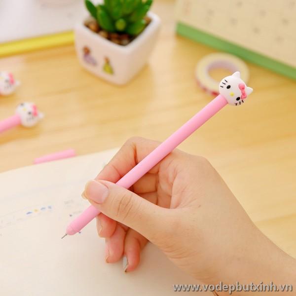 Bút bi nước hình mèo hồng