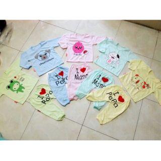 Set 5 bộ quần áo dài tay cho bé trai bé gái, bộ thu đông cho bé, bộ dài tay cho bé