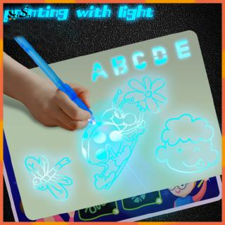 Draw with Light Fun Drawing Board Graffiti Doodle Drawing Tablet Magic Draw 3D Fluorescent Pen Educational Toy