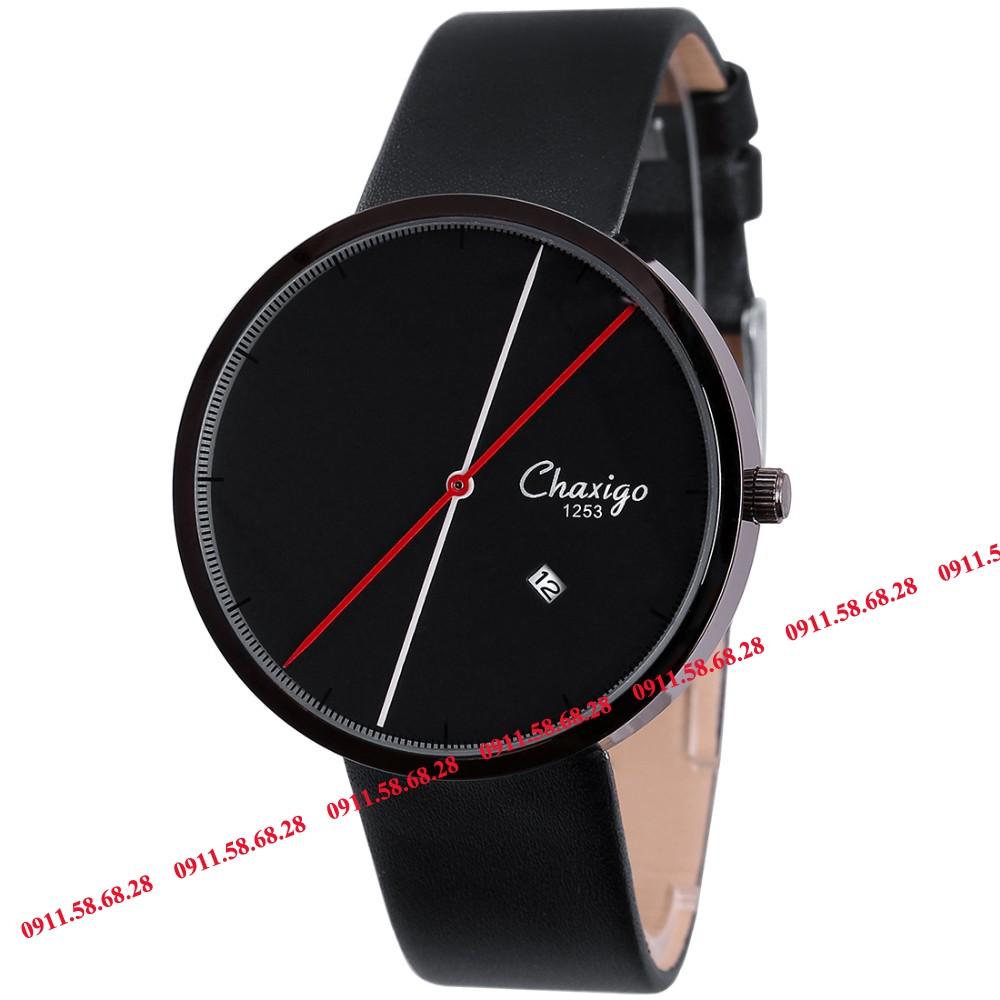 Đồng hồ Nam dây da 2 kim thương hiệu Chaxigo mã CHX111