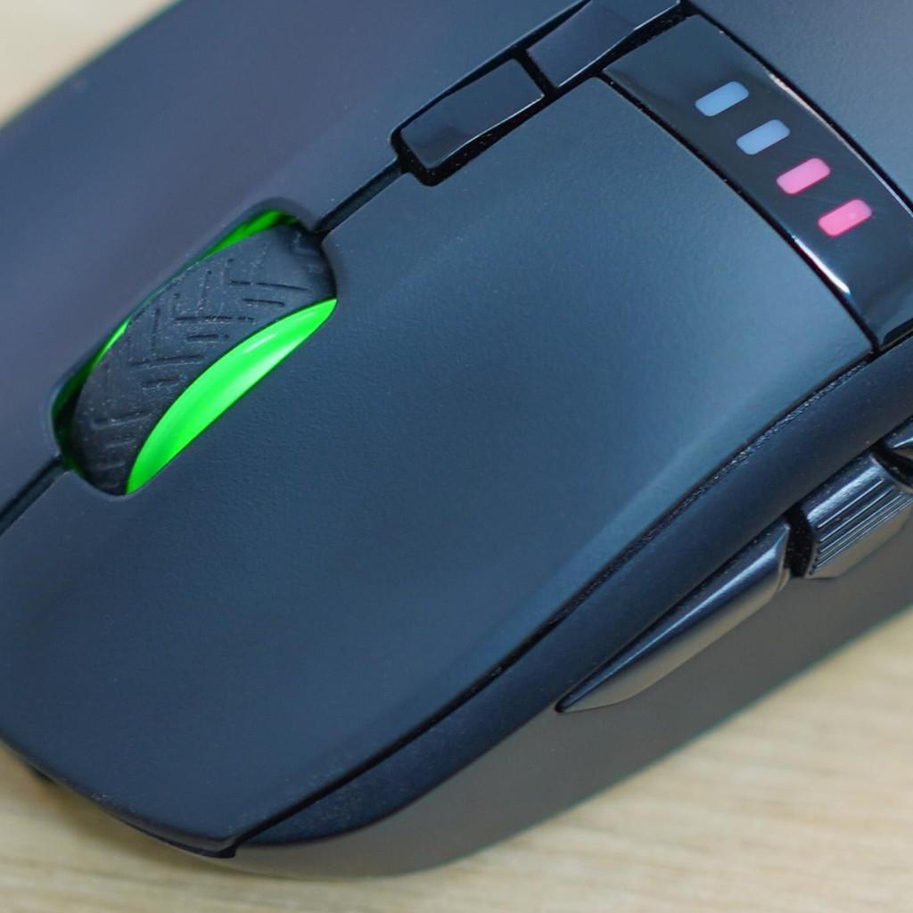Chuột không dây Wireless EDRA EM620W sử dụng pin lithium polymer- Huano Switch- Led RGB - Màu đen