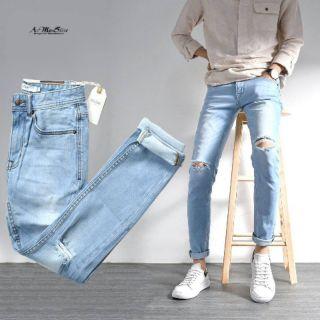 Quần Skinny Jeans Baggy rách gối