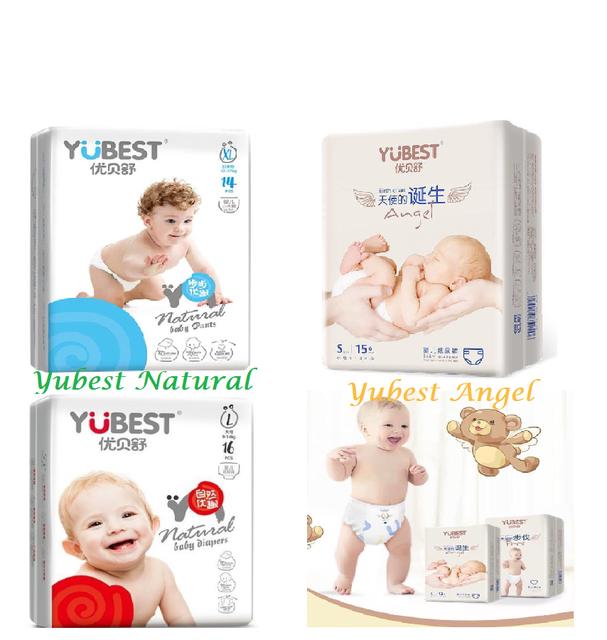 Bỉm YUBEST Angel / Natural nội địa Trung Quốc quần / dán đủ size S132, S90, M108, M84, L96, L78, XL84, XXL72, XXXL66
