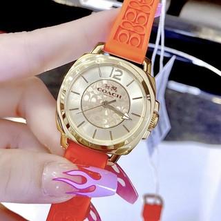 Đồng Hồ Nữ Coach 14502094 Dây Silicon Cam Gold Chính Hãng 34mm thumbnail