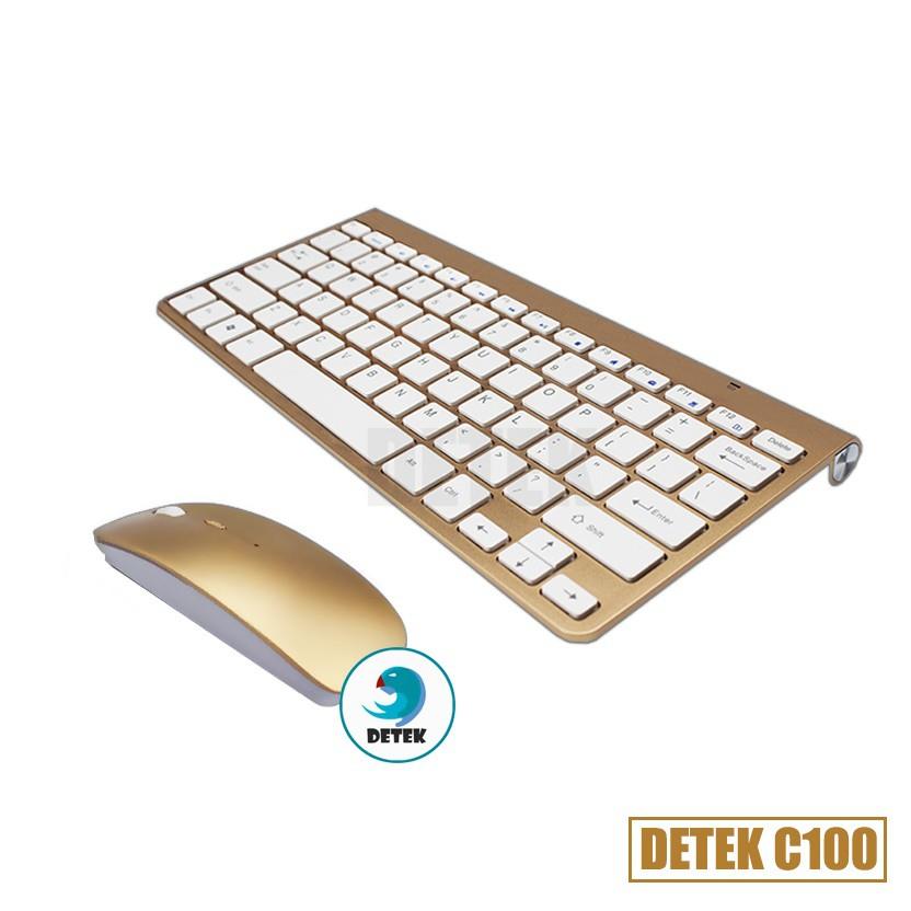 Combo bàn phím và chuột không dây thời trang Detek C100 - vàng - 2526247 , 704106253 , 322_704106253 , 399000 , Combo-ban-phim-va-chuot-khong-day-thoi-trang-Detek-C100-vang-322_704106253 , shopee.vn , Combo bàn phím và chuột không dây thời trang Detek C100 - vàng