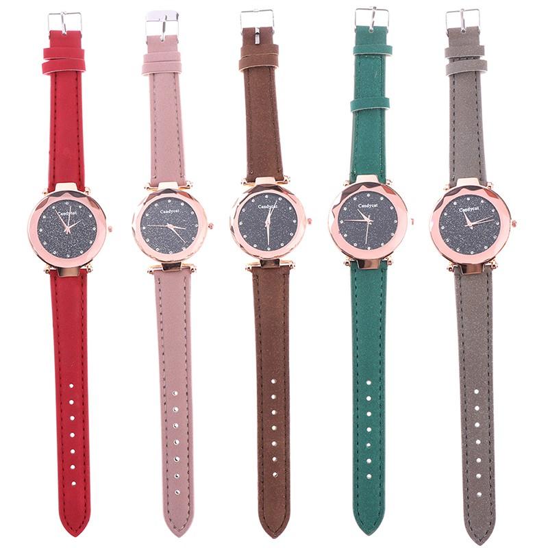 1Pc Star Starry Women Men Magnetic Analog Wrist Watch