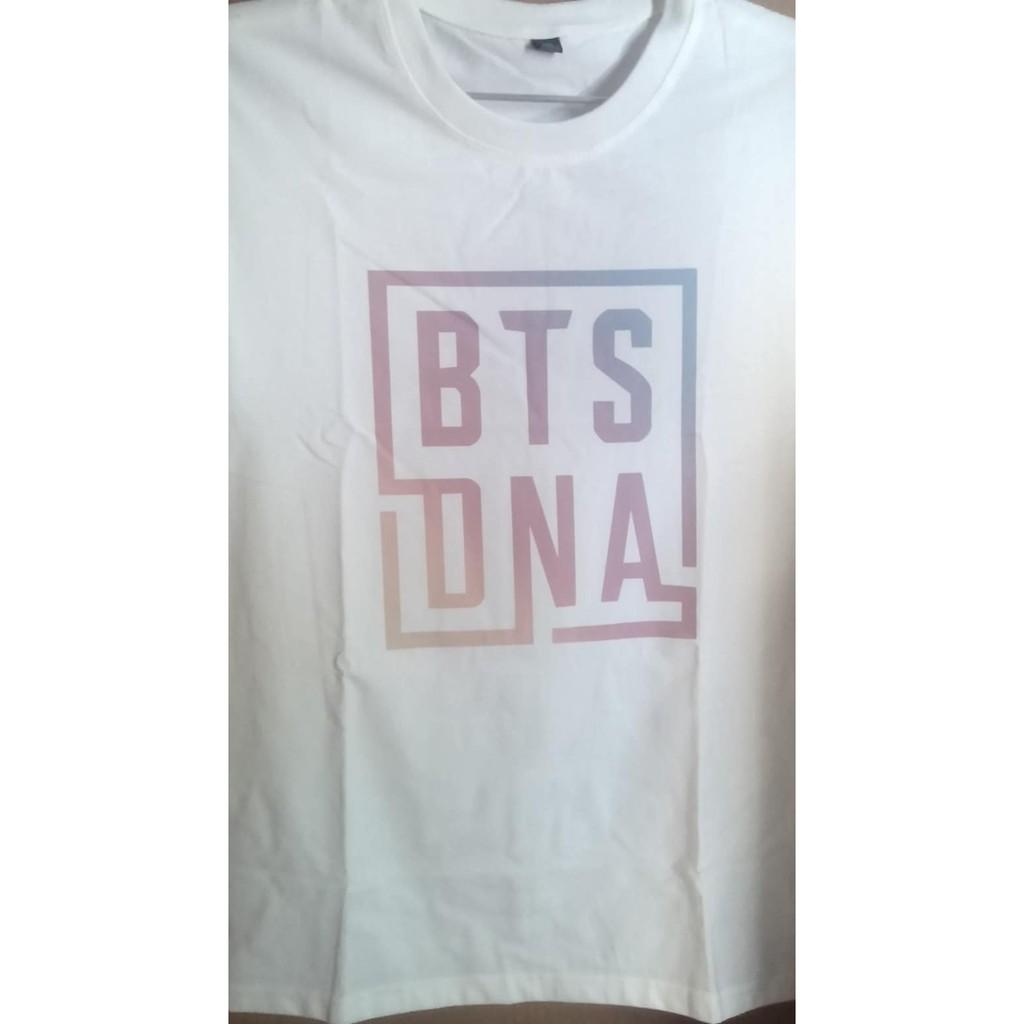 Áo Thun nam nữ Kpop logo nhóm nhạc BTS DNA - LOVE YOURSELF - HER (Có ảnh thật) in 2 mặt