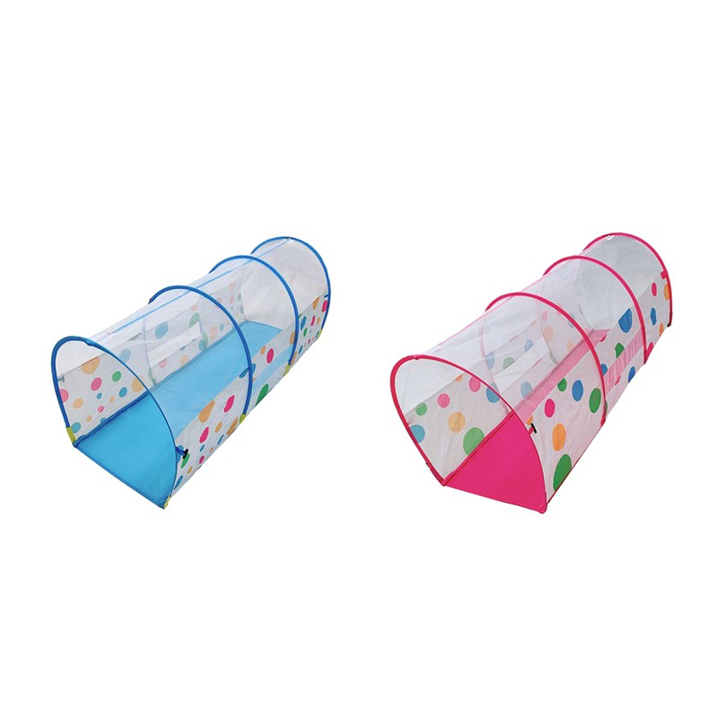 Finevips Kids Cute Playhouse Tent with Tunnel House Toy