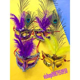 mặt nạ hóa trang lông vũ ( có ảnh thật ) NT3162