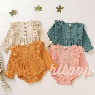 HGL♪Newborn Girls Ruffle Long Sleeve Romper Bodysuit Jumpsuit Outfit Clothes