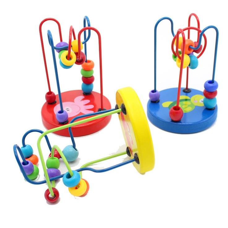 Đồ chơi luôn gỗ phát triển kỹ năng cho bé giao mầu ngẫu nhiên
