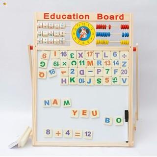 Bảng gỗ 2 mặt học chữ và số cho bé Xả Hàng Bán Lỗ