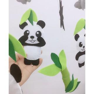 [Mã SUMIKIDSH giảm 10% đơn bất kỳ] Treo nôi đen trắng Panda PHIÊN BẢN MỚI kích thích thị giác trẻ sơ sinh