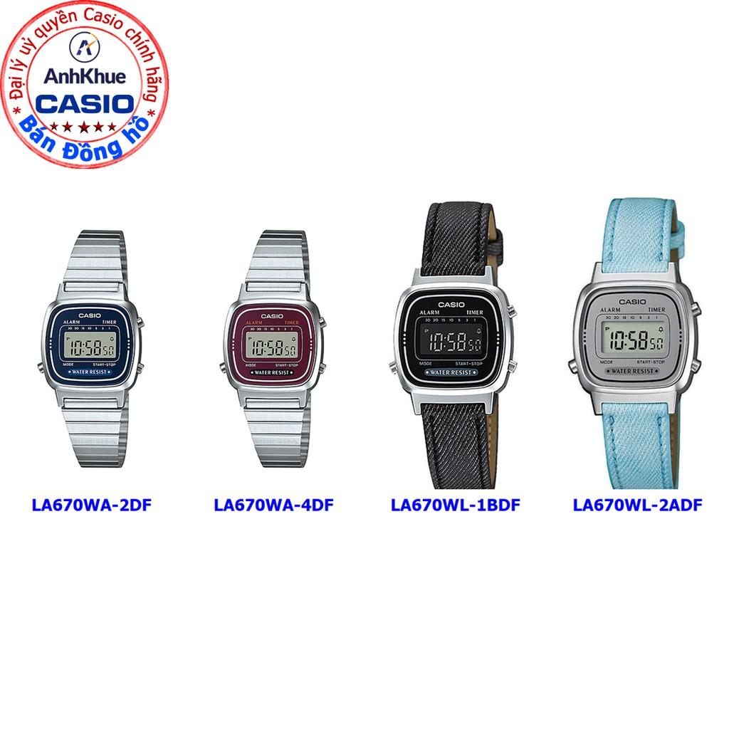 Đồng hồ nữ Casio LA670 LA670WA-2DF LA670WA-4DF LA670WL-1BDF LA670W chính hãng - giá