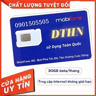 SIM 4g [DTHN] MOBIFONE MAX DUNG LƯỢNG, KHÔNG GIỚI HẠN TỐC ĐỘ, CHỈ 50K/THÁNG, Sim sử dụng cả năm.