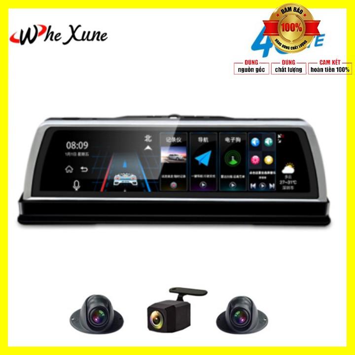 Camera hành trình đặt taplo ô tô cao cấp WHEXUNE K600 tích hợp 4 camera FullHD 1080P GPS, Wifi - Bảo hành 12 tháng