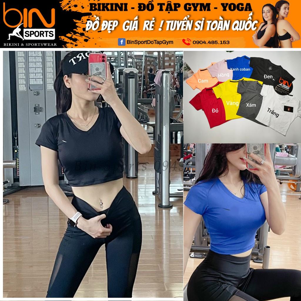 Aó Tập Gym Yoga Nữ Crop Cọc Tay Thể Thao Bin Sports A020
