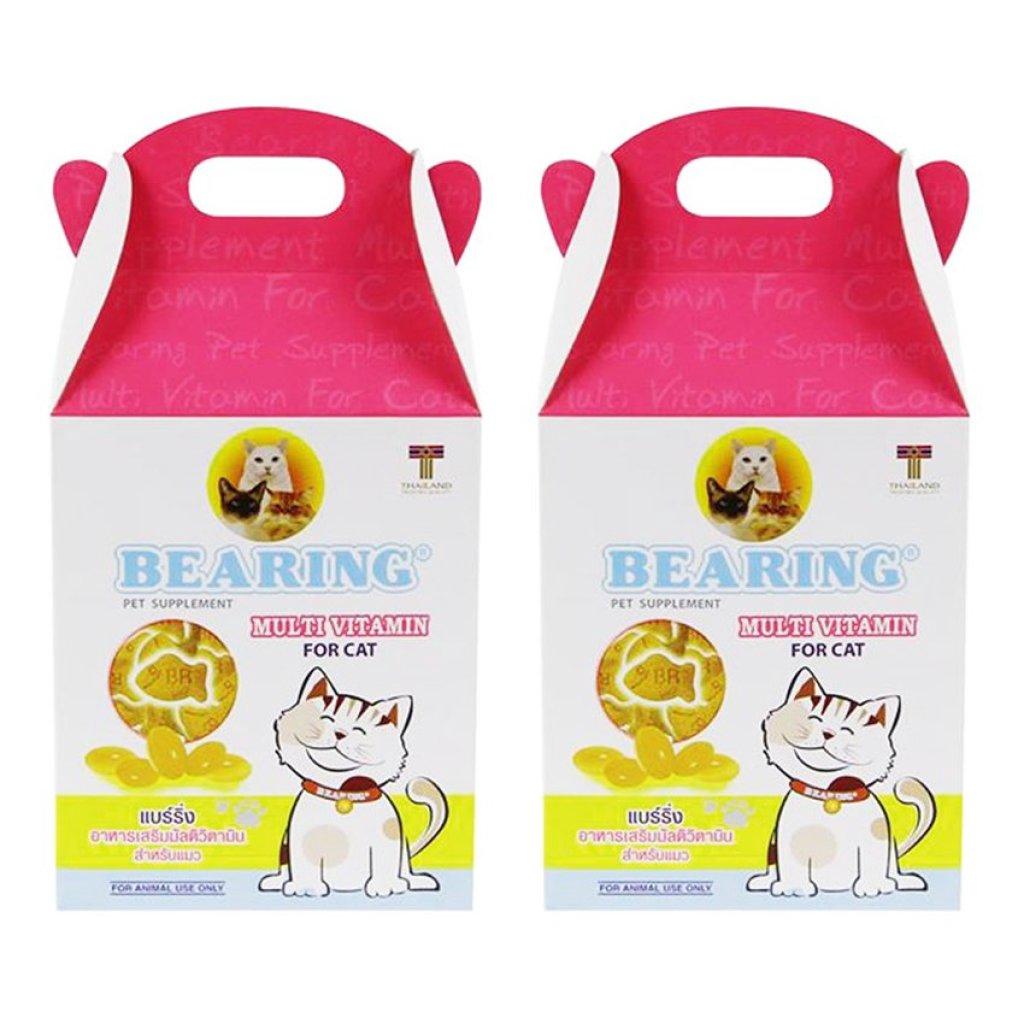 Bearing Cat Multi Vitamin Supplement 100 tablets (2 Boxes) แบร์ริ่ง มัลติ วิตามิน เสริม สำหรับ แมว ไม่กินอาหัตว์เลี้ยง B