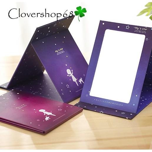 Gương trang điểm, gương để bàn gấp gọn xinh xắn - Gương trang điểm  Clovershop68