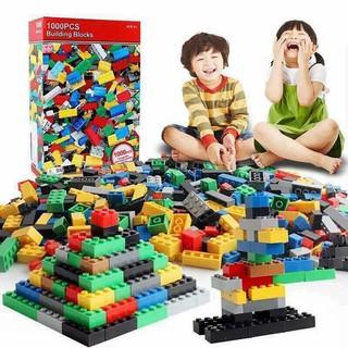Bộ xếp hình dạng Lego 1000 chi tiết Building Blocks cho bé tập chơi