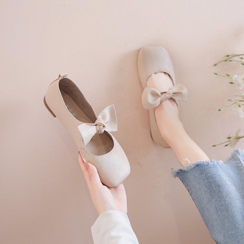 Giày Búp Bê Đế Bằng Thiết Kế Xinh Xắn Cho Nữ