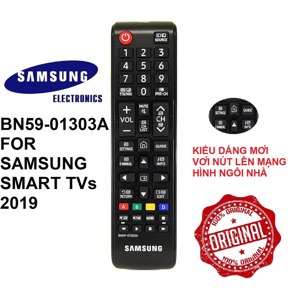 Remote điều khiển tivi Samsung smart BN59-01303A (Model 2019 - Tặng pin)