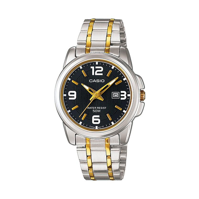 Đồng hồ nam Casio CHÍNH HÃNG MTP-1314SG-1AVDF, DÂY KIM LOẠI