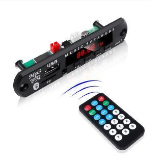Thiết bị giải mã âm thanh không dây kết nối bluetooth 12V hỗ trợ thẻ TF kết nối cổng USB 75/5000 MP3 WMA