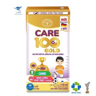 Thùng sữa nước Nutricare Care 100 Gold - cho trẻ thấp còi biếng ăn suy dinh dưỡng (110ml x 48 hộp)