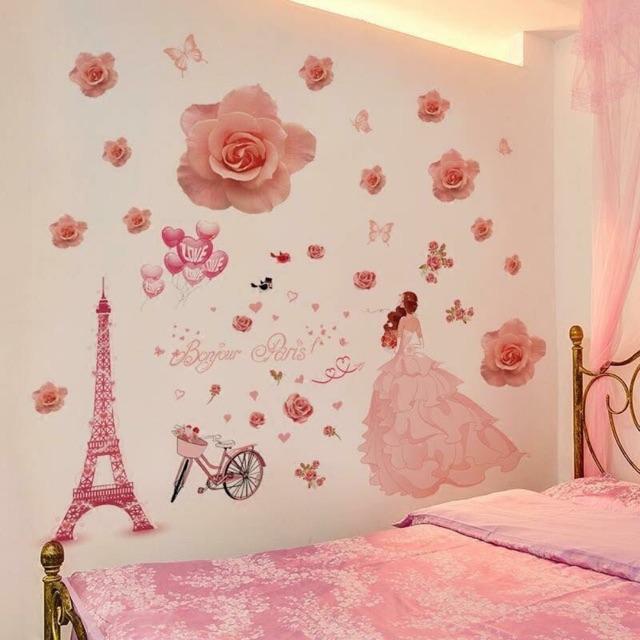 Mẫu decal kết hợp cô dâu nước Pháp và Hoa hồng phấn - 2479698 , 1130430795 , 322_1130430795 , 80000 , Mau-decal-ket-hop-co-dau-nuoc-Phap-va-Hoa-hong-phan-322_1130430795 , shopee.vn , Mẫu decal kết hợp cô dâu nước Pháp và Hoa hồng phấn