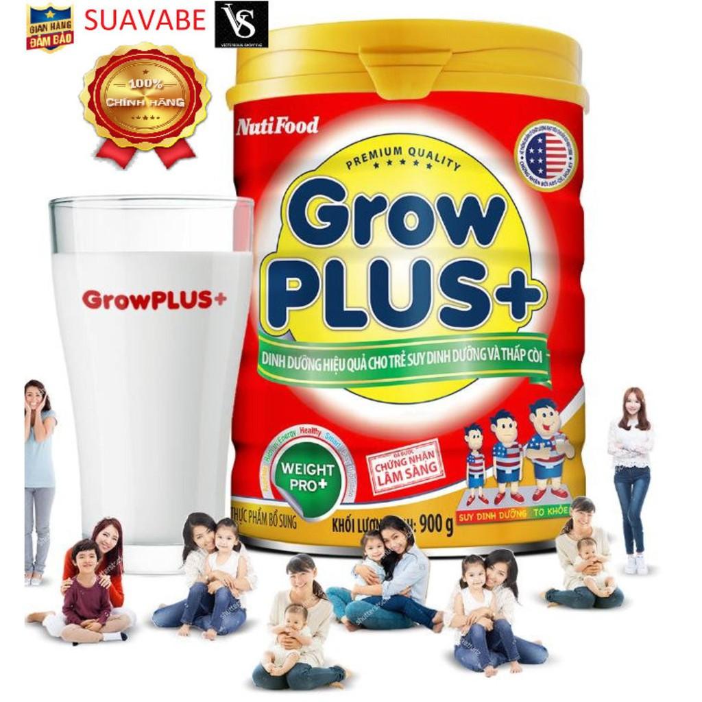 [Mã 267FMCGSALE giảm 8% đơn 500K] Combo 4 lon Sữa Bột Nutifood Growplus + đỏ 900g