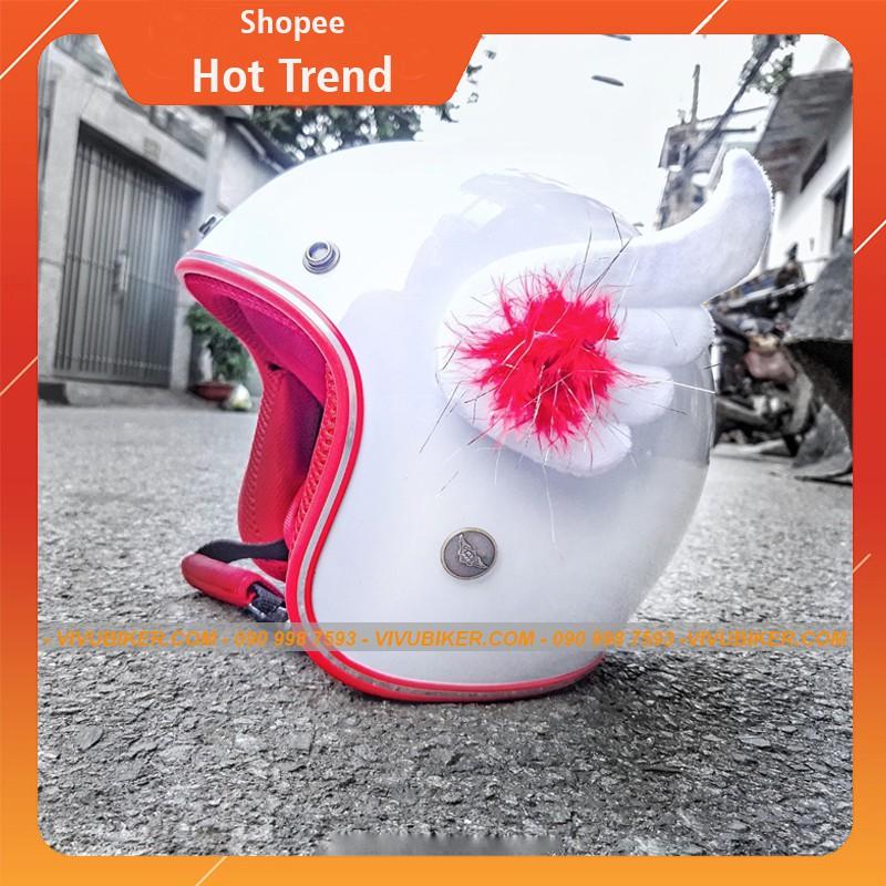 Cánh Cupid FungFing gắn nón bảo hiểm siêu cute, Cánh thiên thần Fung Fing Thái Lan gắn nón bảo hiểm 3/4