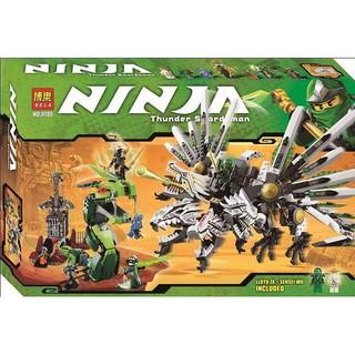 (có sẵn) bộ đồ chơi lắp ráp lego nijago 9450 bela 9789 rồng chiến 4 đầu của kay