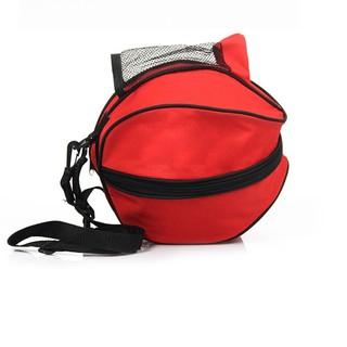 Túi đựng bóng rổ, có ngăn đựng bình nước, ngăn nhỏ đựng phụ kiện chất liệu cao cấp POPO Collection (Đỏ)