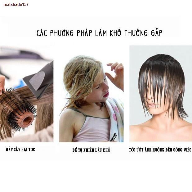 ❀lvits❀❦¤Khăn ủ tóc, quấn tóc sợi microfiber siêu thấm, lông mềm, nhanh khô - Việt thư