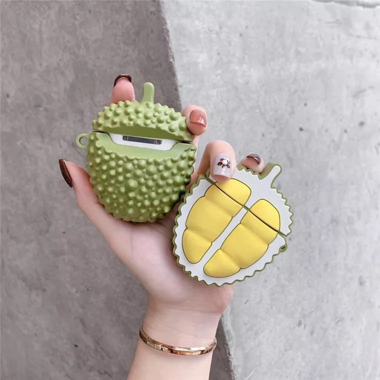 3D durian AirPods Case Cute Earphone Protective Cover Apple Airpods Case Earphone Silicone Case