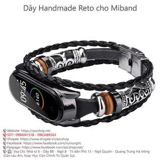 Dây Miband 5 Handmade Reto Style