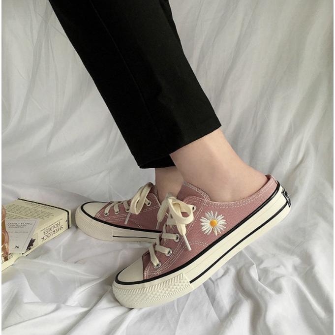 Giày Thể Thao Nữ Hở Gót Thời Trang Hàn Quốc