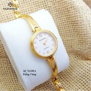 Đồng hồ nữ Sunrise SL711SWA và SL717SWA siêu mỏng kính Sapphire chống xước chống nướ