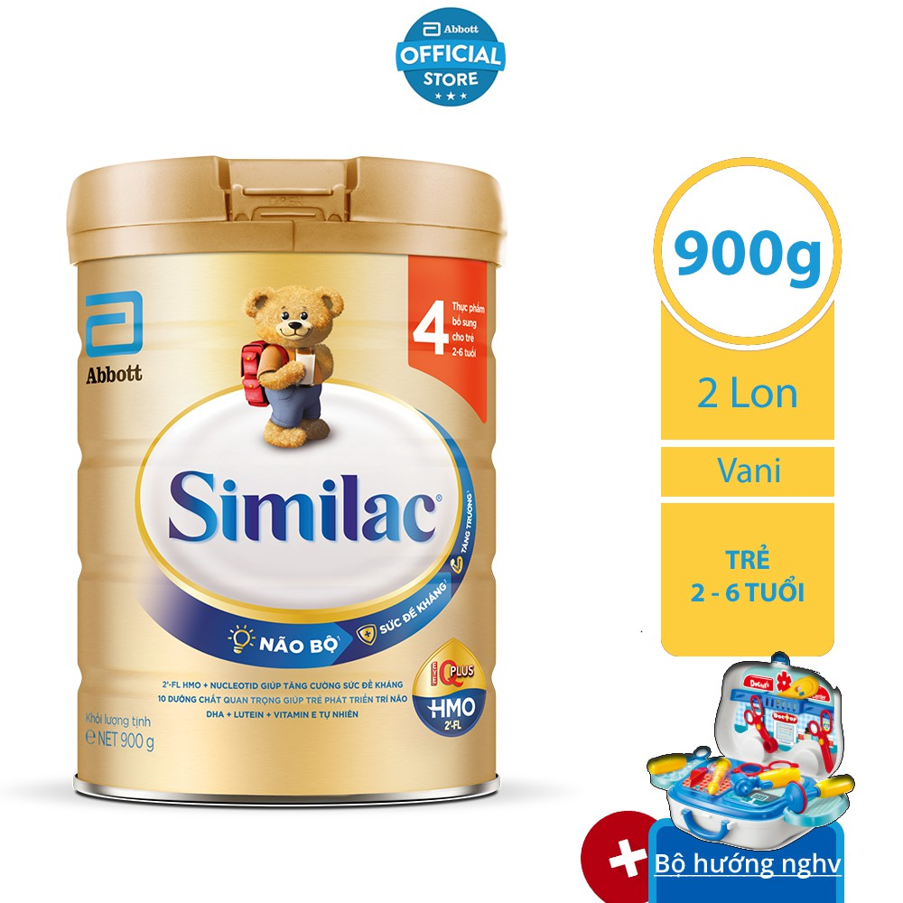 Bộ 02 lon Sữa bột Similac 4 900g