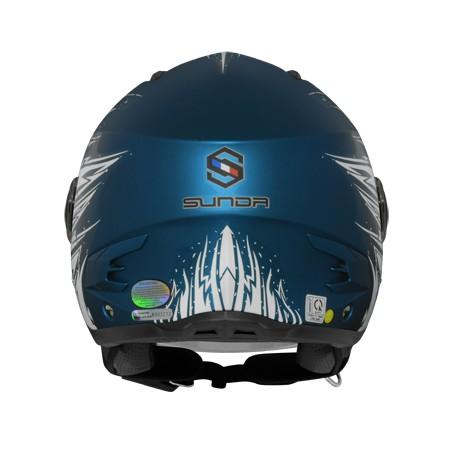 Mũ bảo hiểm 3/4 Sunda 617 tem AS6