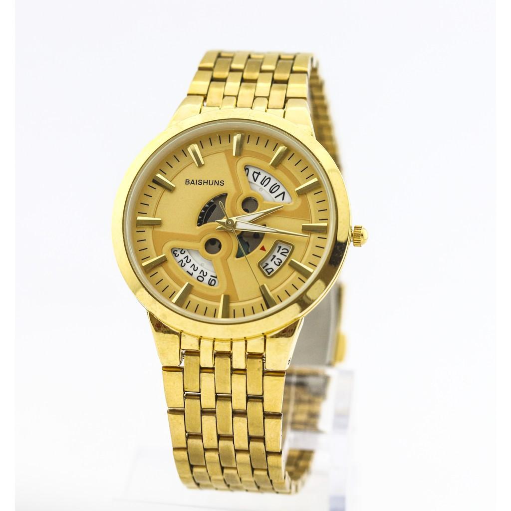 Đồng hồ nam Baishuns vàng