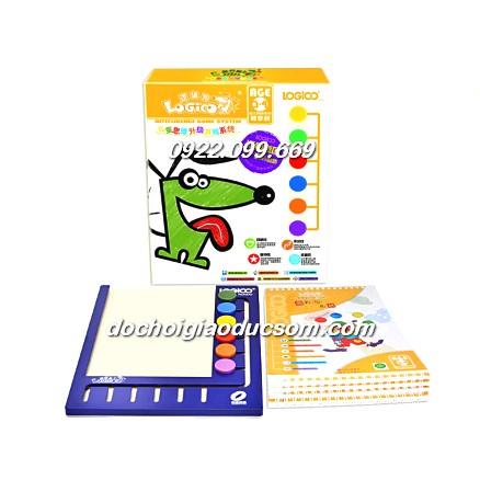 Bộ Logico bảng nhựa 5 bộ sách chơi kèm