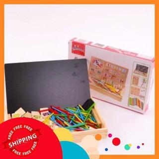 Bảng gỗ 2 mặt dạy bé học toán