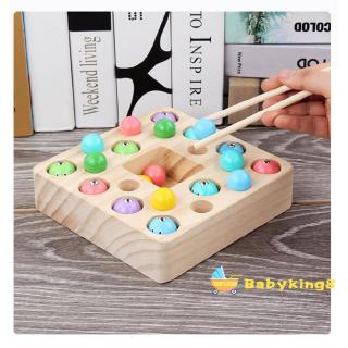 BღBღ✿Children´s Wooden Magnetic Fishing Set Hand-Eye Training Toy For 2-4 years old Baby